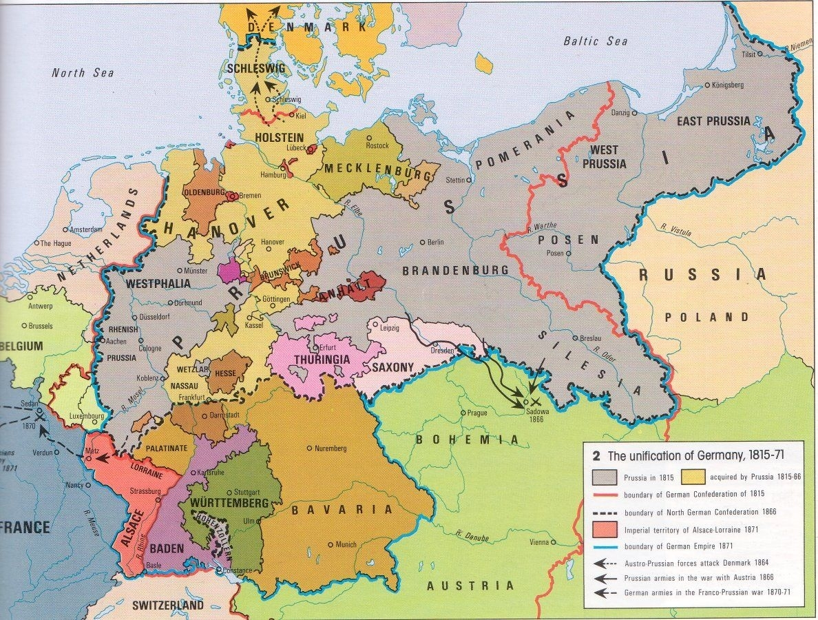 The Unification Of Germany 1815-71. This Map Gave Me Flashbacks Of regarding Map Of Germany Before Unification