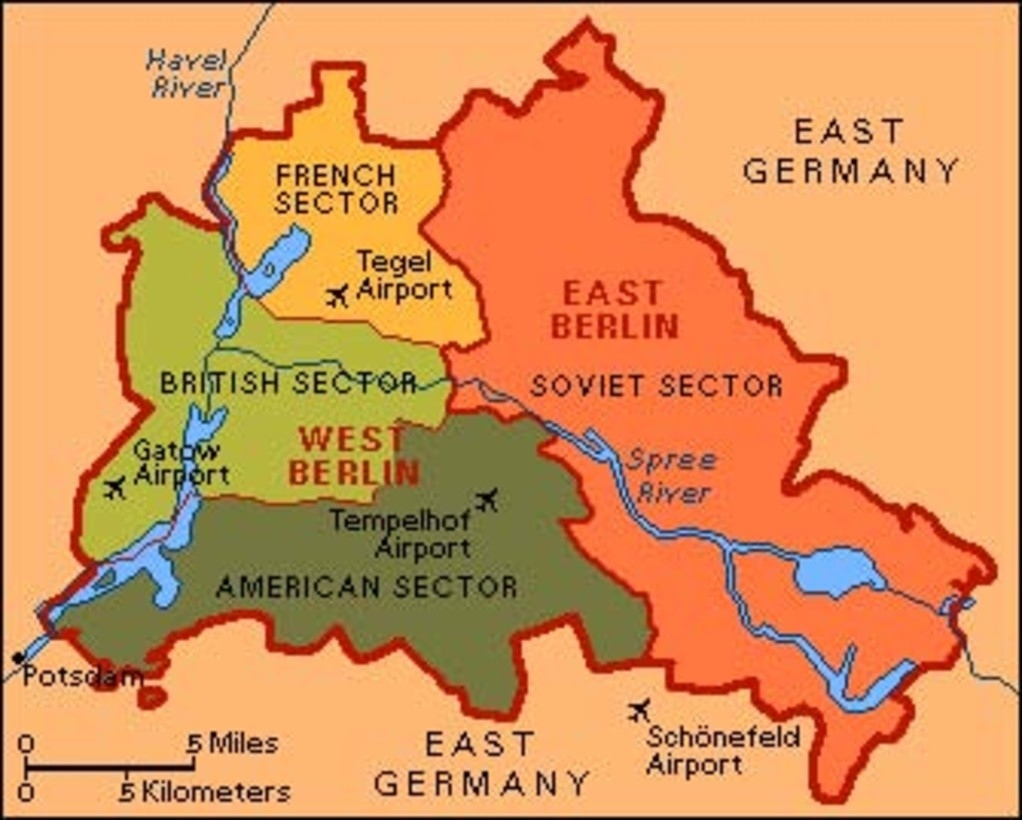 Things Have Changed: Berlin Divides throughout Map Of Germany Divided After Ww2