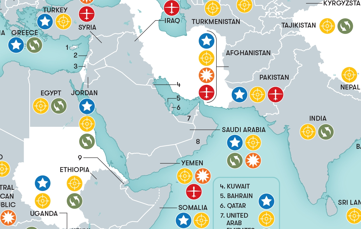 This Map Shows Where In The World The U.s. Military Is Combatting within Army Bases In Germany Map