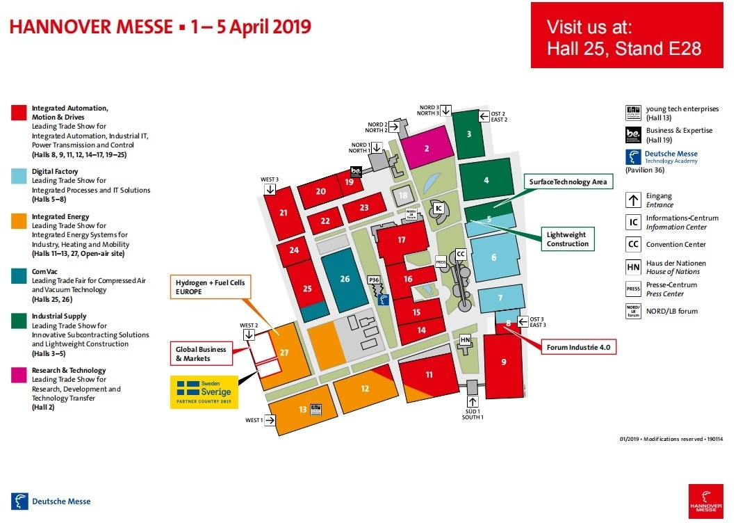 Top 10 Punto Medio Noticias | Convention Center Hannover Messe Plan within Hannover Messe Map Germany