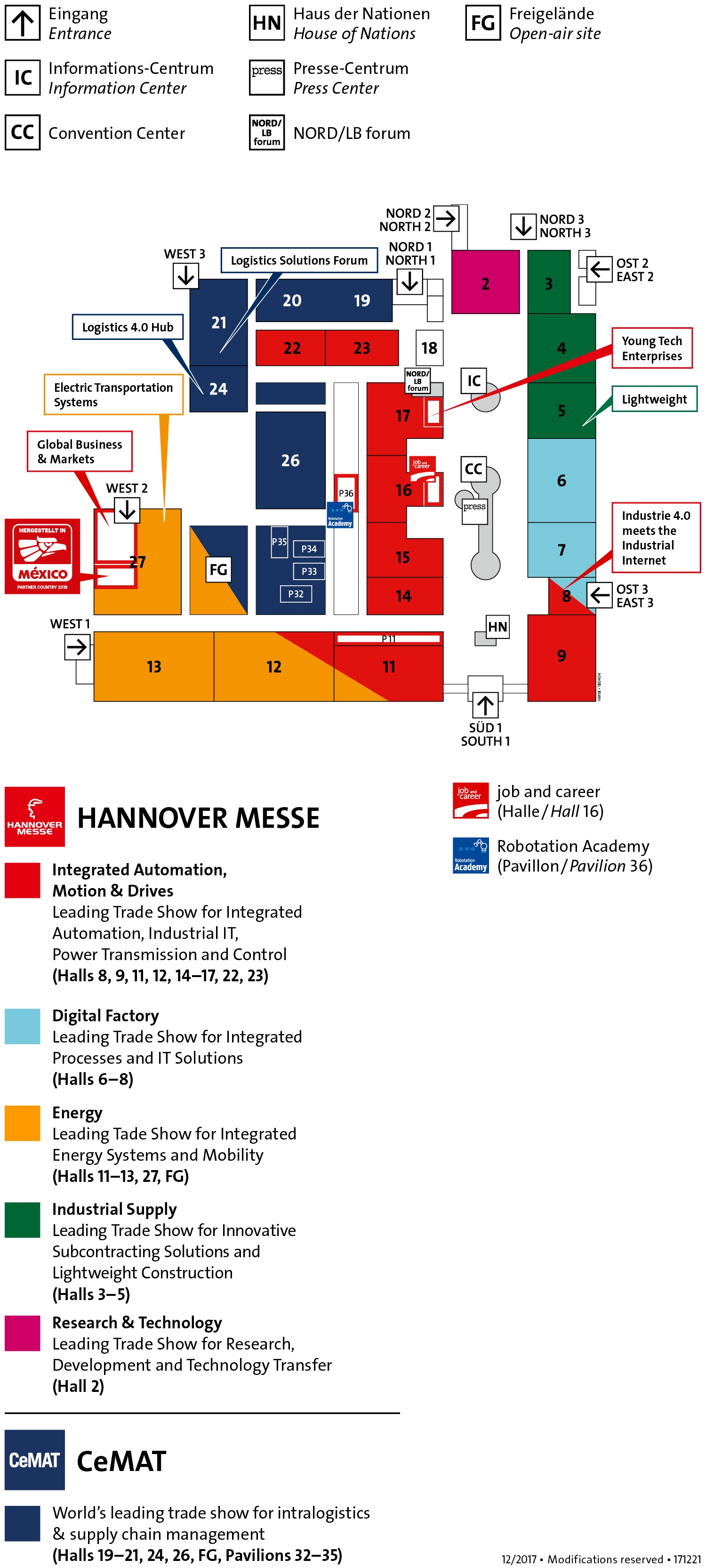 Top 10 Punto Medio Noticias | Hannover Messe Fair Map pertaining to Hannover Messe Map Germany