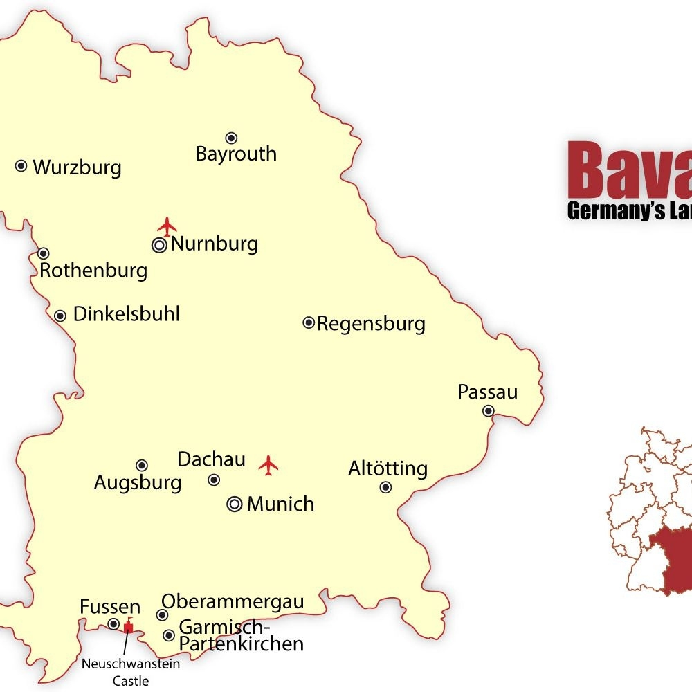 Travel To The Best Bavarian Cities: Munich And Nuremberg throughout Fussen Germany Map