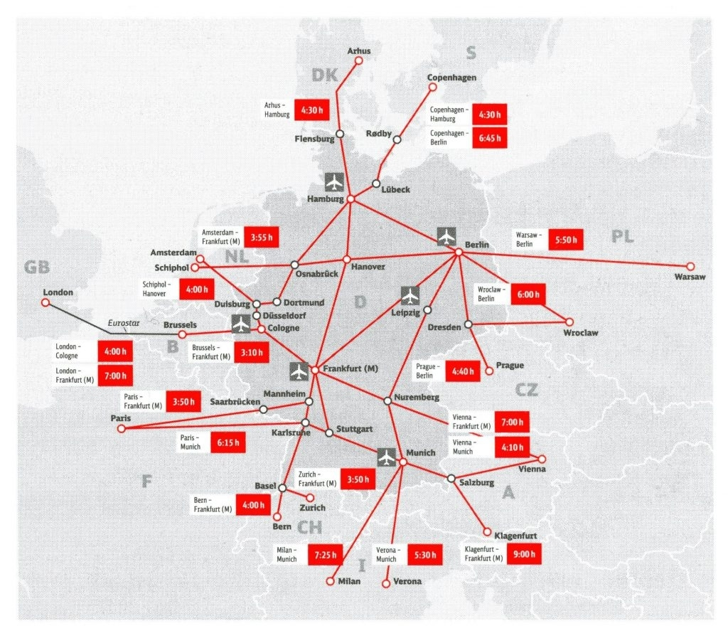 Ultimate Guide To Germany Railway   G2Rail Blog with German Rail Map Bavaria