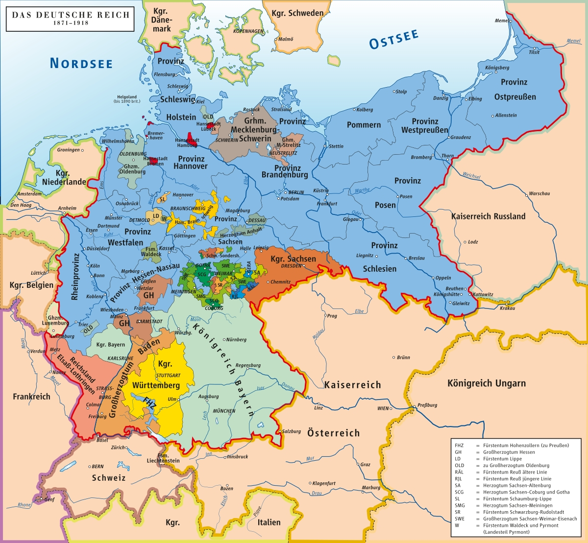 Unification Of Germany - Wikipedia regarding Map Of German States Before Unification