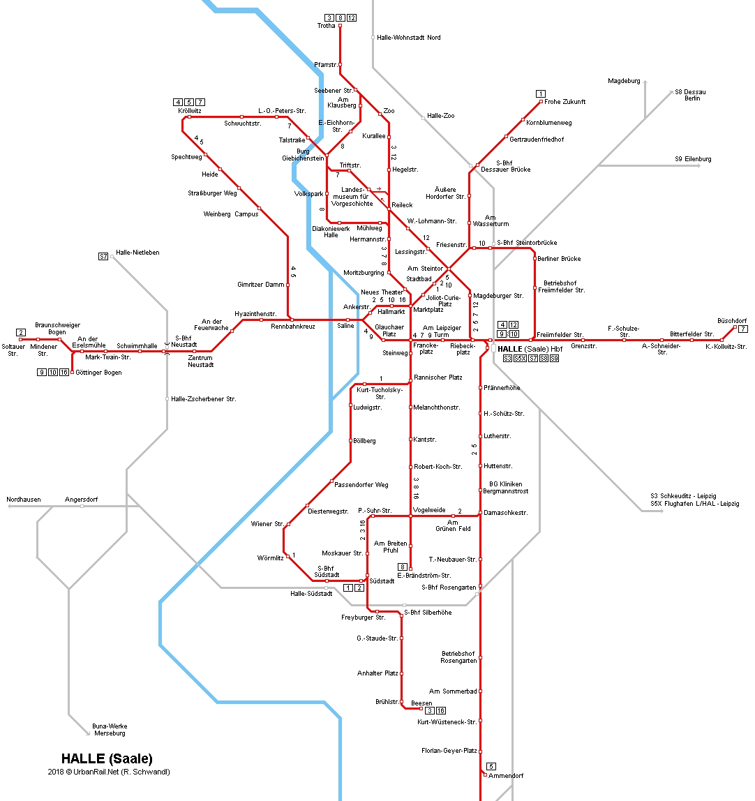 Urbanrail > Europe > Germany > Sachsen-Anhalt > Halle (Saale intended for Halle In Germany Map