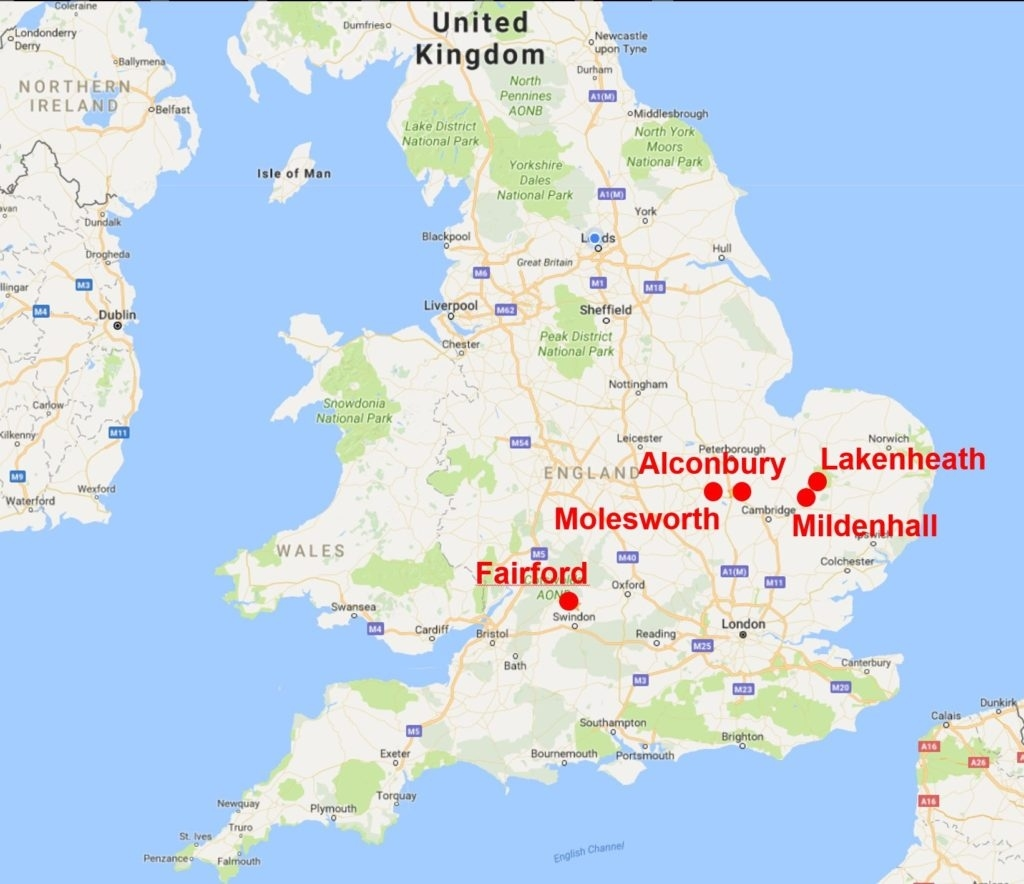 Us Military Bases In The Uk | Yorkshire Campaign For Nuclear Disarmament within British Army Bases In Germany Map
