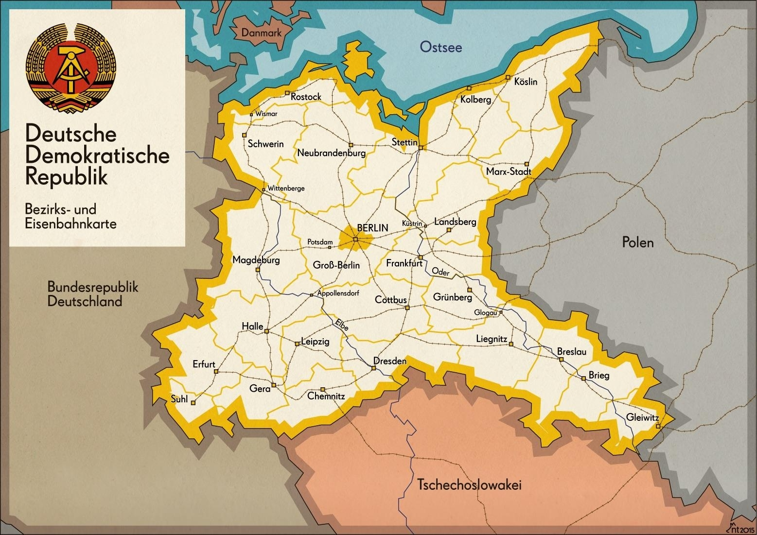 What If This Was The Map Of East Germany? : Alternatehistory throughout Former East Germany Map