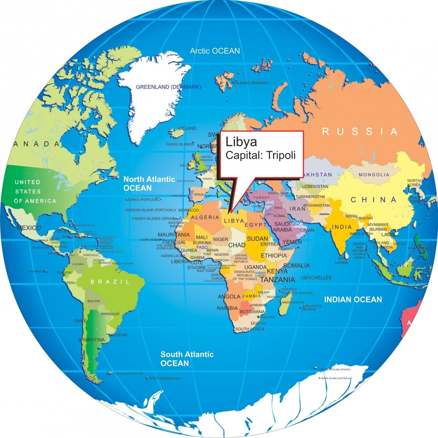 Where Is Libya On The World Map And Travel Information | Download with regard to Show Germany In World Map