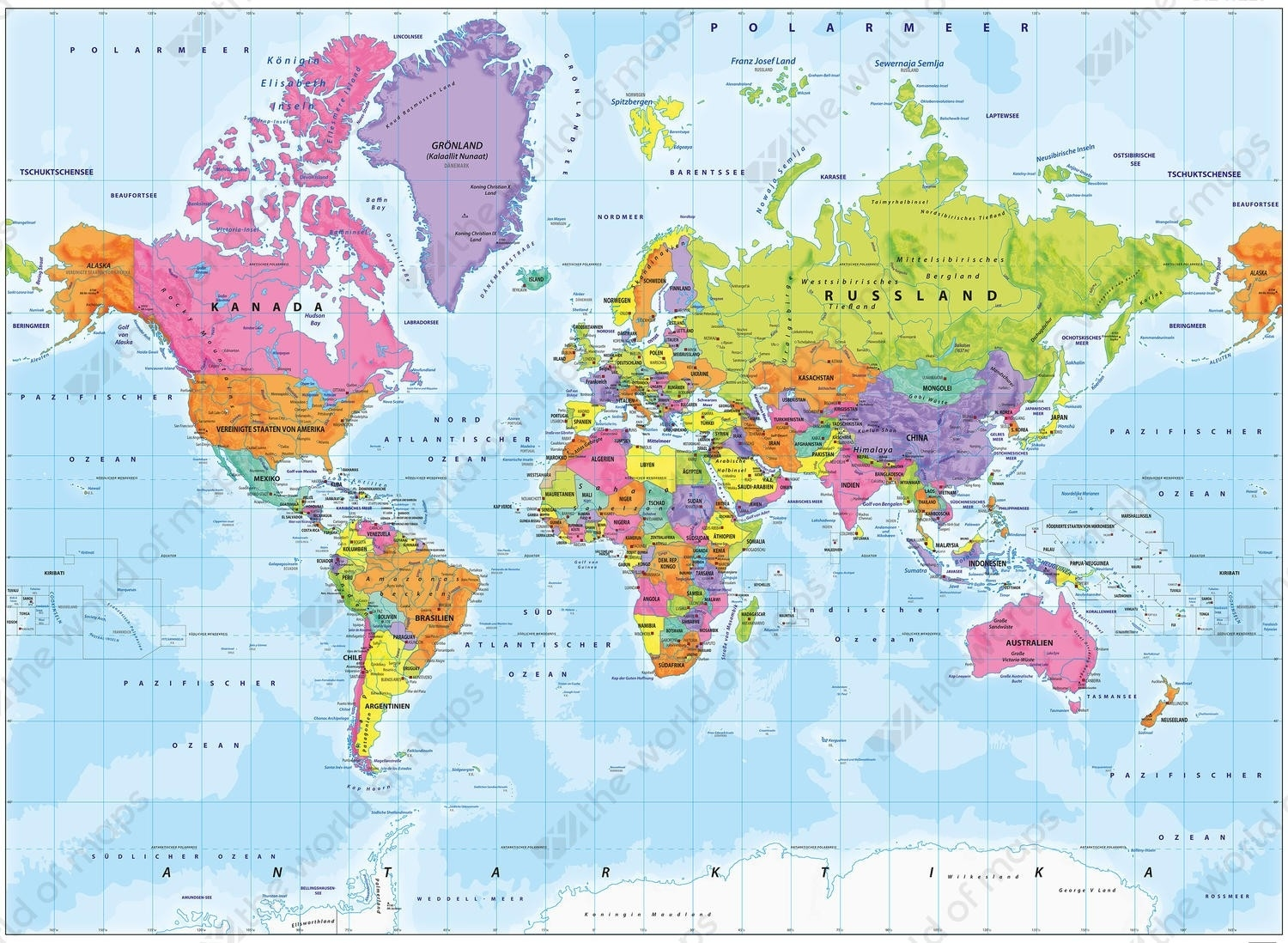 World Map Germany | Sin-Ridt inside Location Of Germany In World Map