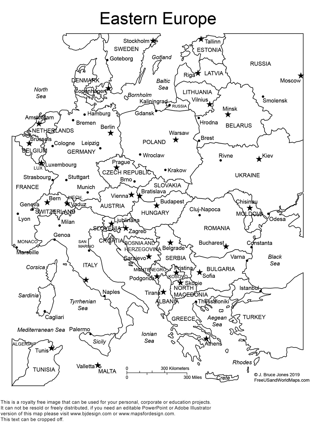 World Regional Europe Printable, Blank Maps • Royalty Free, Jpg throughout Germany Map Coloring Page