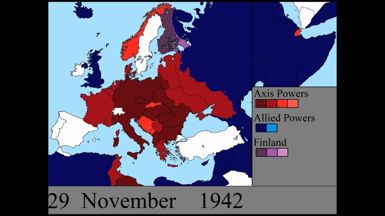 World War Ii In Europe: Every Day for Germany Ww2 Map
