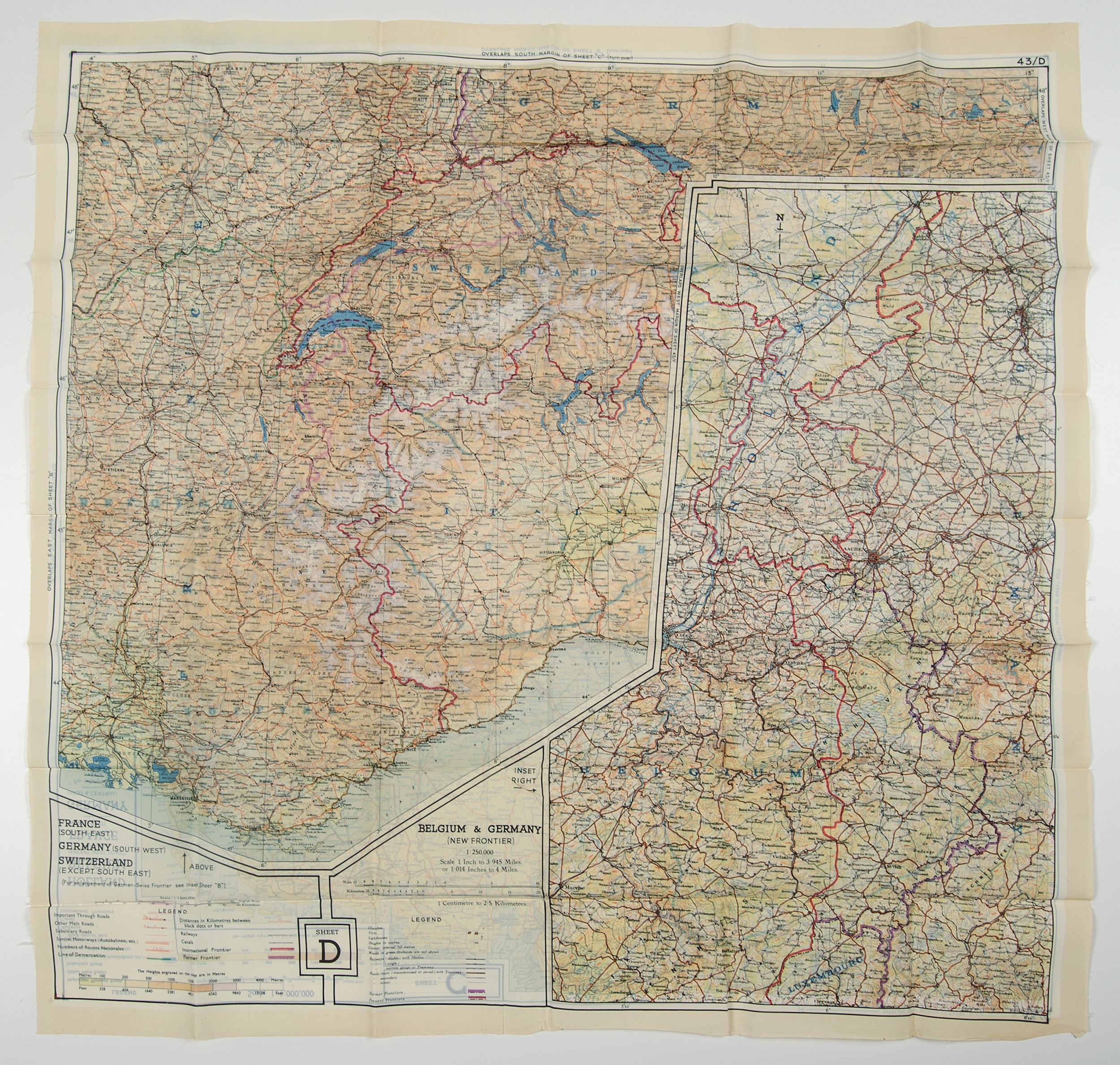 World War Ii Pilot Escape Silk Map, Aerial Pilots Maps, And More intended for Ww2 German Maps For Sale