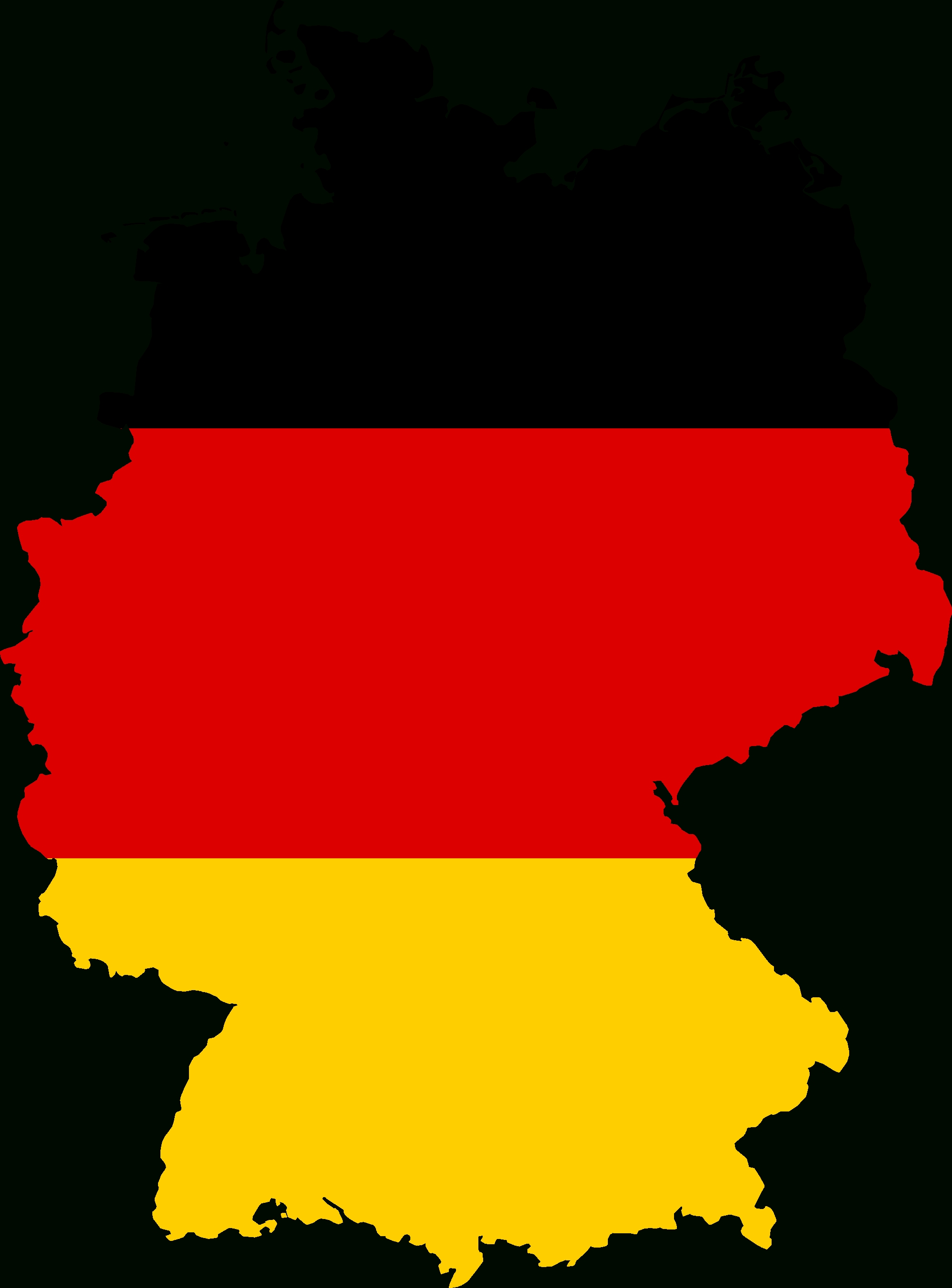Yellow Germany, Clip Art, West Germany, World Map #48874 - Free inside West Germany World Map