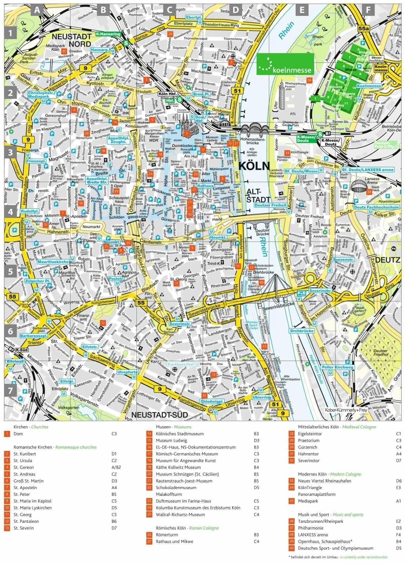 Youlonely S Related Europe · Of Cologne Germany Map Area Hotels regarding Map Of Cologne Germany Area