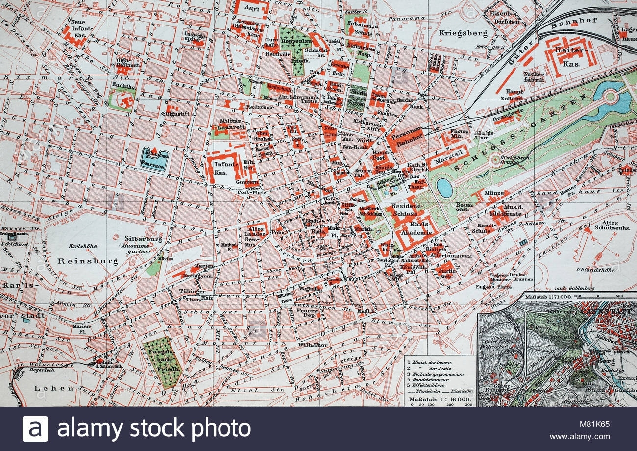 City Map From The Year 1892: Stuttgart, Germany, Digital with Maps Of Stuttgart Germany