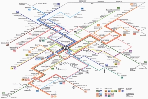 Easy As A To B: Designing The Perfect Transit Map intended for Train Map Stuttgart Germany