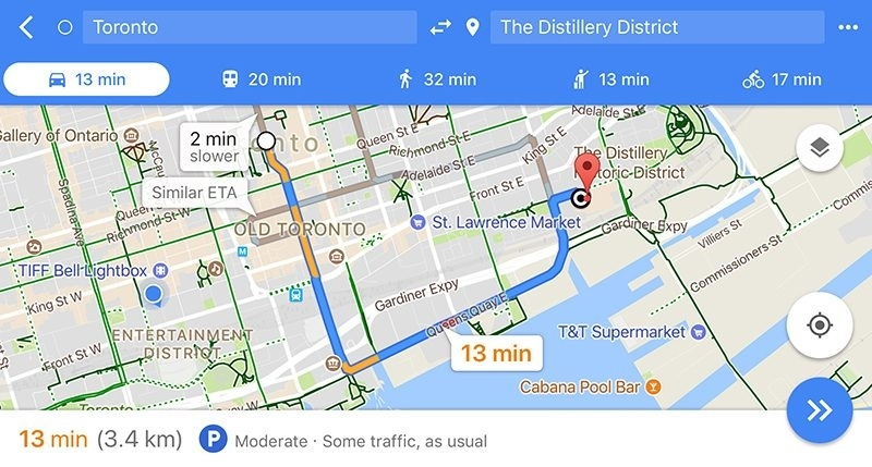 Google Maps Expands 'Parking Difficulty' Indicator To 25 for Munich To Stuttgart Google Maps