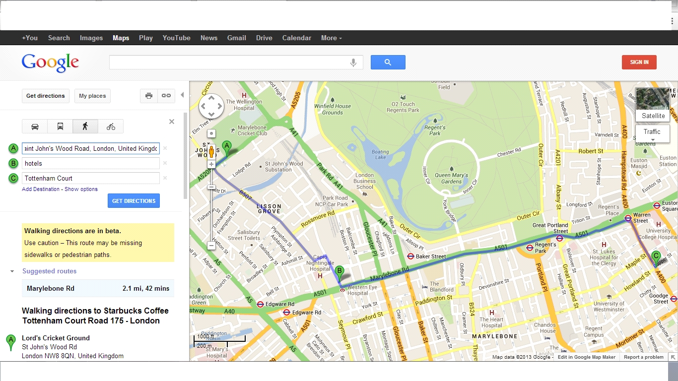 Google Maps: Find A Hotel On Your Route - Making Different with Google Maps Hotels Stuttgart