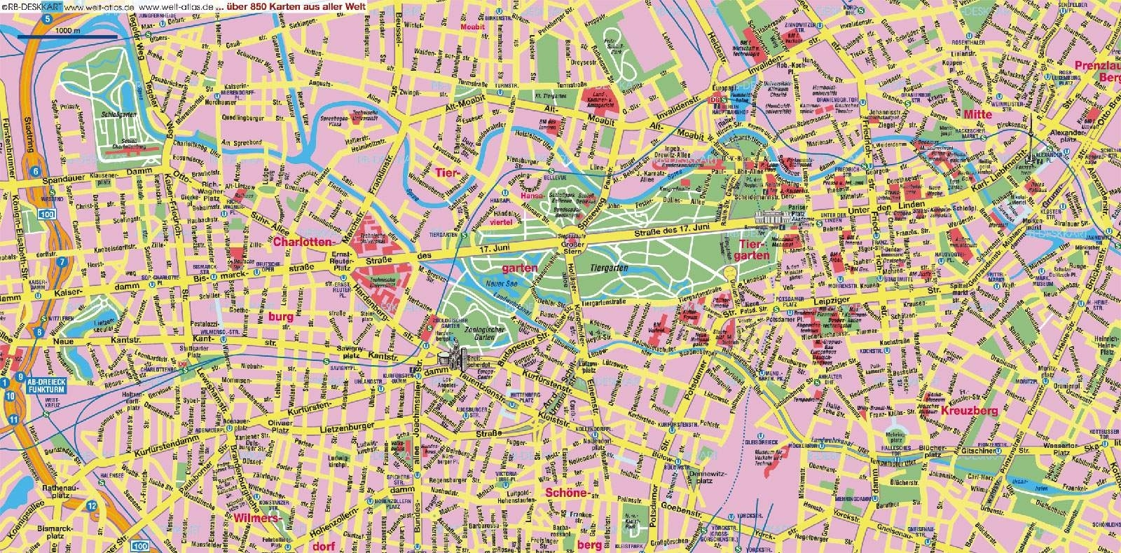Large Berlin Maps For Free Download And Print   High with regard to Stuttgart City Centre Map