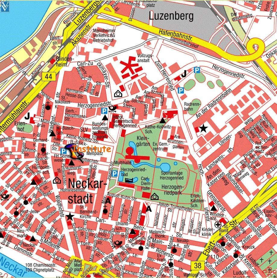 Large Mannheim Maps For Free Download And Print   High with Stuttgart City Centre Map