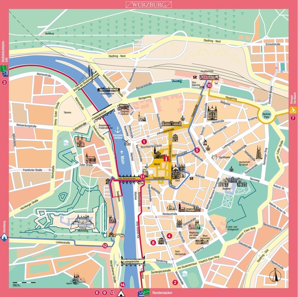 Large Wurzburg Maps For Free Download And Print | High with Munich To Stuttgart Google Maps