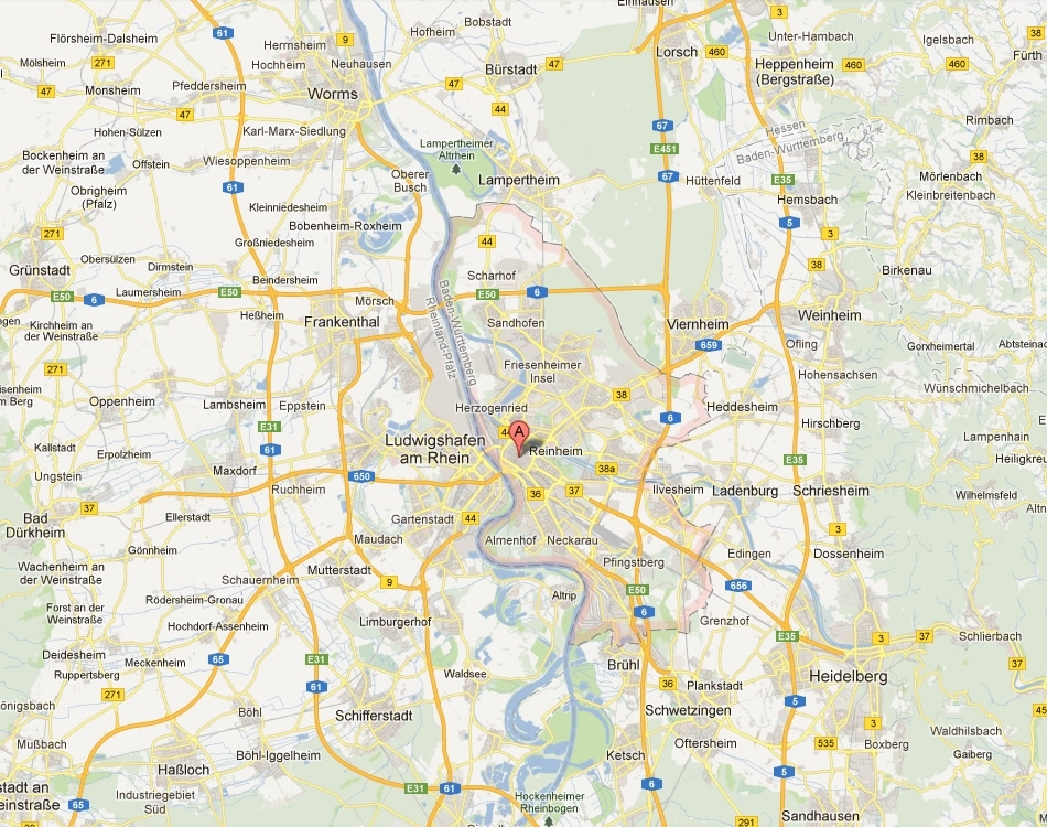 Mannheim Map And Mannheim Satellite Image intended for Google Maps Milaneo Stuttgart
