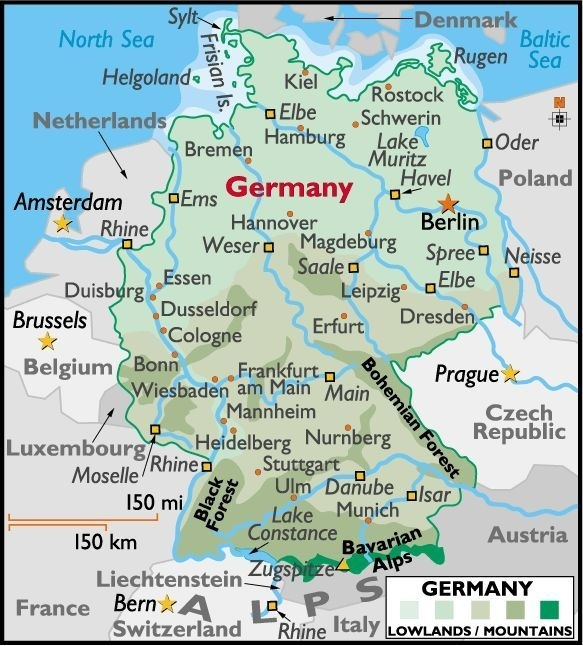Map Of Germany Showing Cities | Map Of Germany with regard to Stuttgart On Map Of Europe