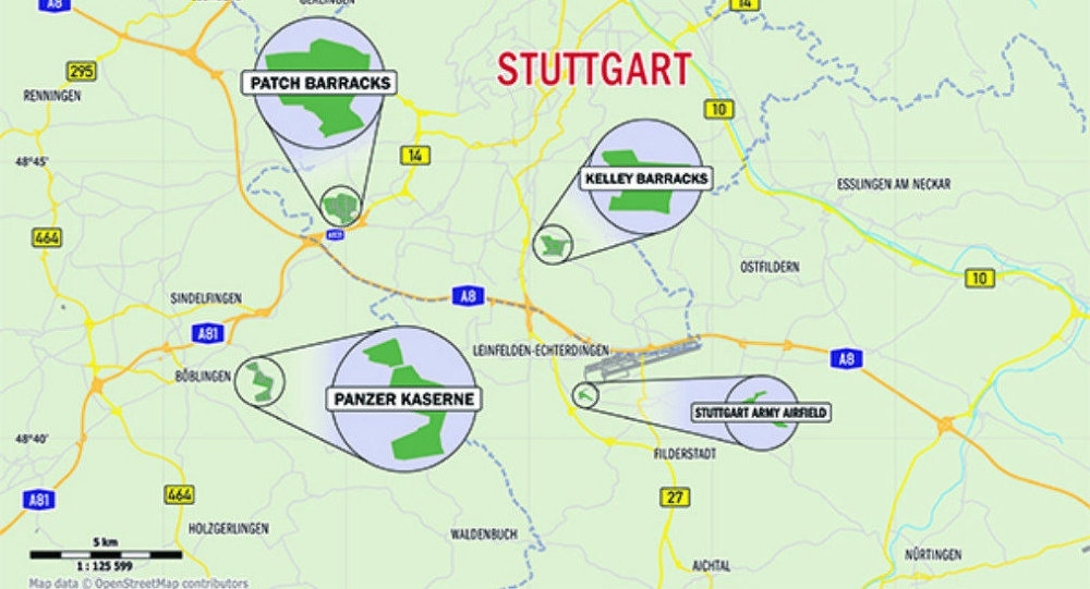 Us Army Shuts Down Stuttgart Army Facility - Pentagon in Stuttgart Location Germany Map