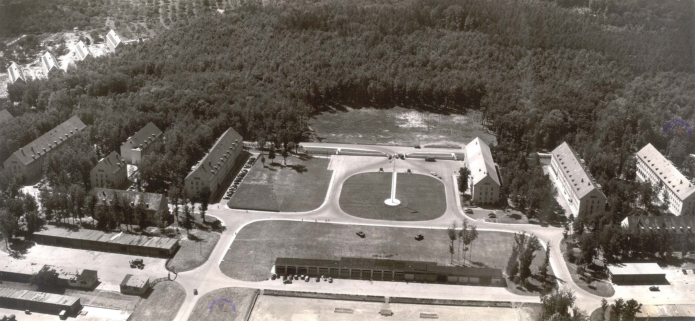 Usareur Aerial Photos - Patch Bks 1950 intended for Patch Barracks Map Stuttgart Germany
