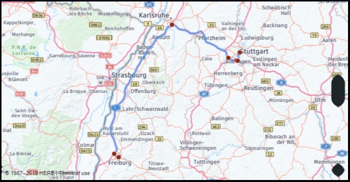 What Is The Distance From Freiburg Germany To Stuttgart in Google Maps Stuttgart Stadtmitte