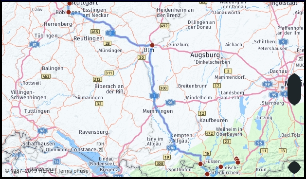 What Is The Distance From Oberammergau Germany To throughout Google Maps Stuttgart Möhringen