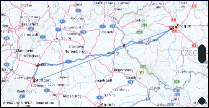 What Is The Drive Distance From Stuttgart Germany To for Stuttgart Germany Google Maps