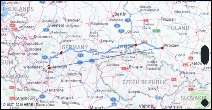 What Is The Driving Distance From Frankfurt Germany To inside Google Maps Traffic Stuttgart Germany